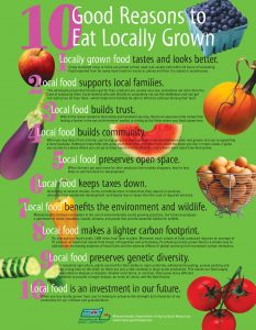 10 reasons to eat locally grown